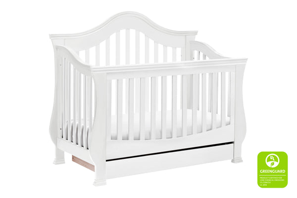 Ashbury 4-in-1 Convertible Crib with Toddler Bed Conversion Kits White