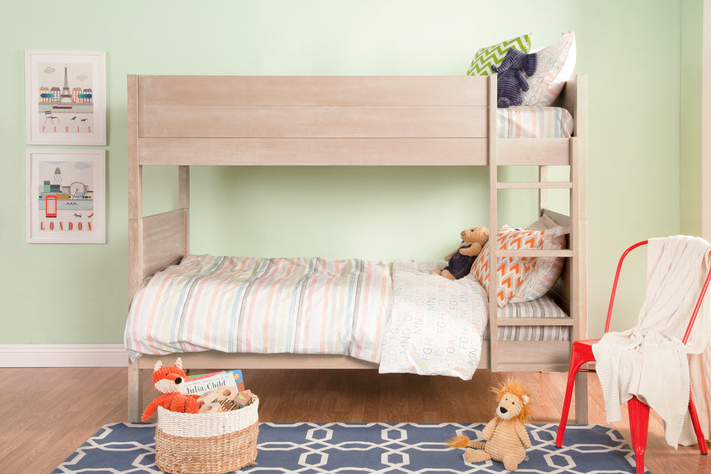 M13594UP,Ryan Twin-over-Twin Bunk Bed in Rustic Pine