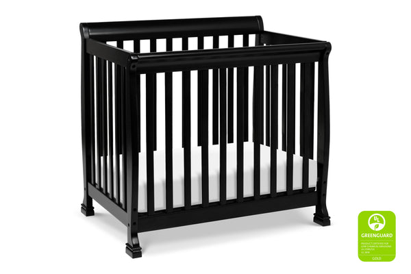 M5598,Kalani 2-in-1 Mini Crib and Twin Bed Ebony