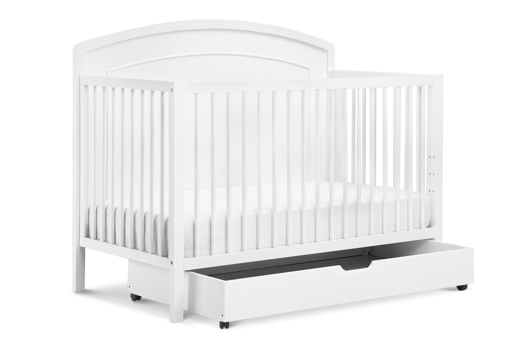 F0273W,Under Crib Trundle In White Finish