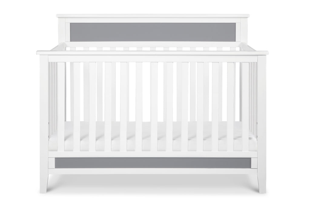 F11301WG,Connor 4-in-1 Convertible Crib In White and Grey