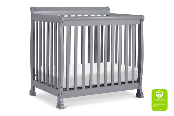 M5598,Kalani 2-in-1 Mini Crib and Twin Bed Grey
