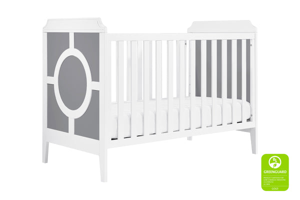 M11401,Poppy Regency 3-in-1 Convertible Crib Grey / White