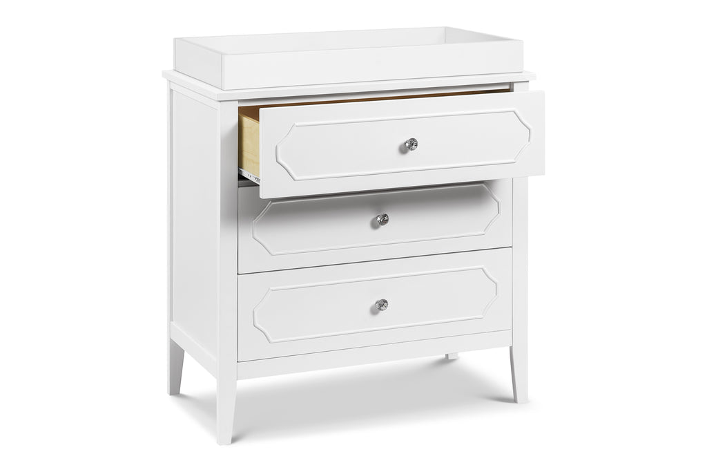 M11423W,Chloe Regency 3-Drawer Dresser in White