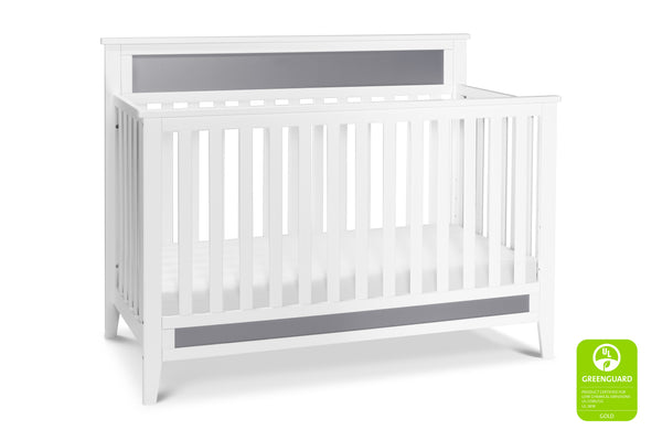 F11301,Connor 4-in-1 Convertible Crib White / Grey