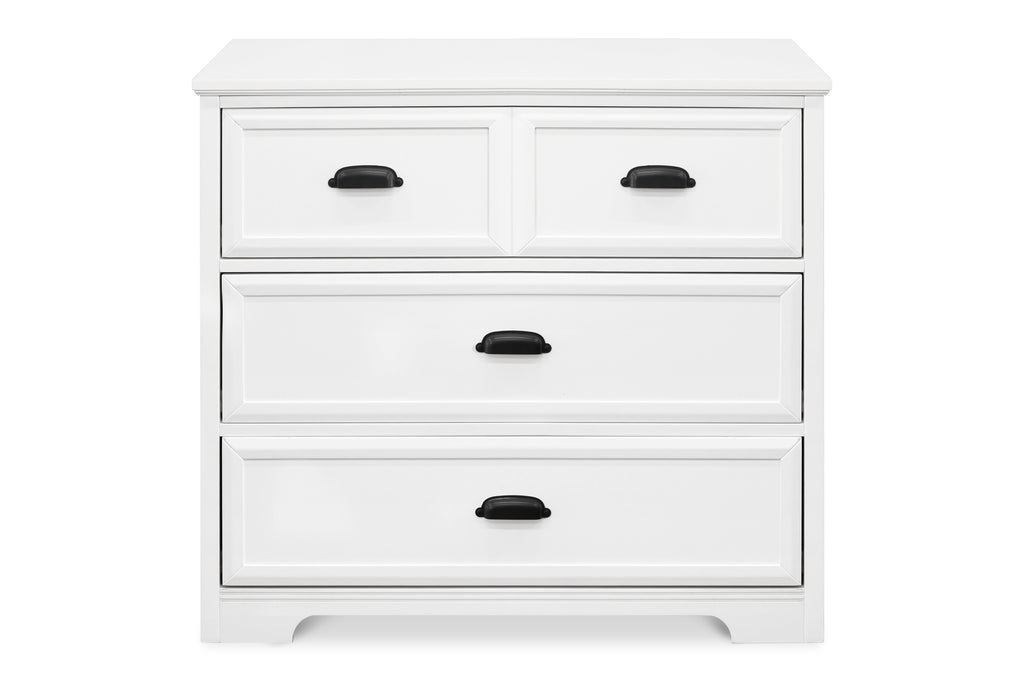M16123W,Charlie Homestead 3-Drawer Dresser  KD in White