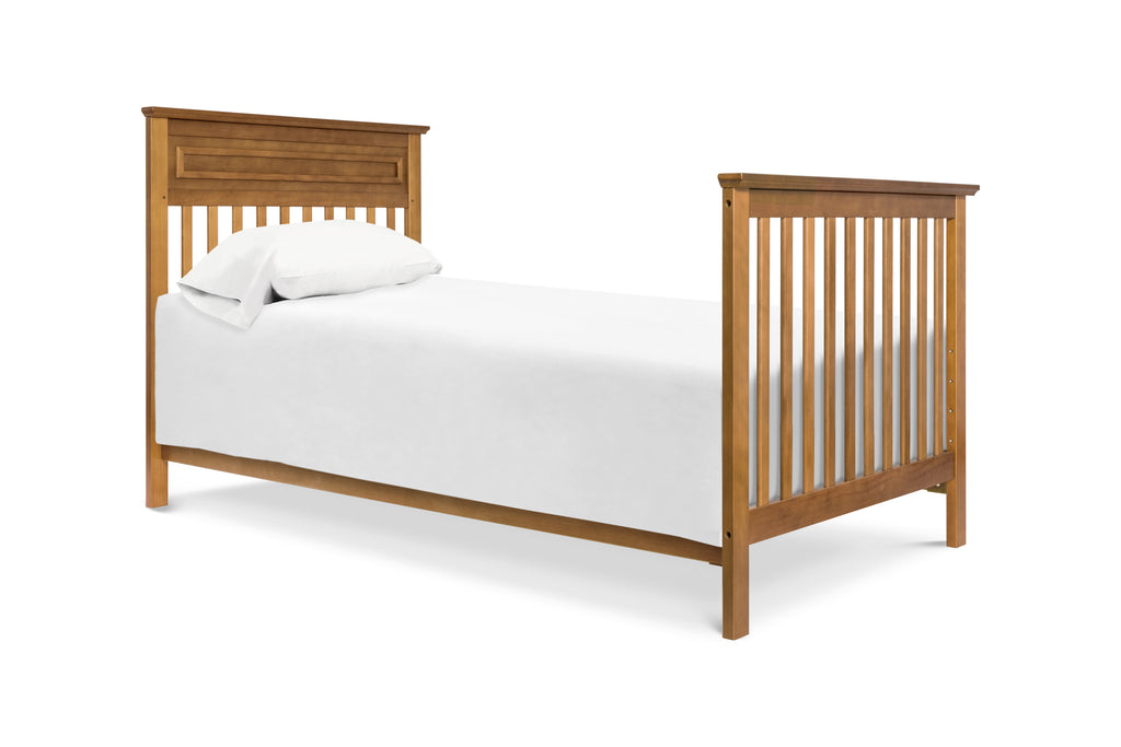 M4398CT,Autumn 2-in-1 Mini Crib and Twin Bed in Chestnut