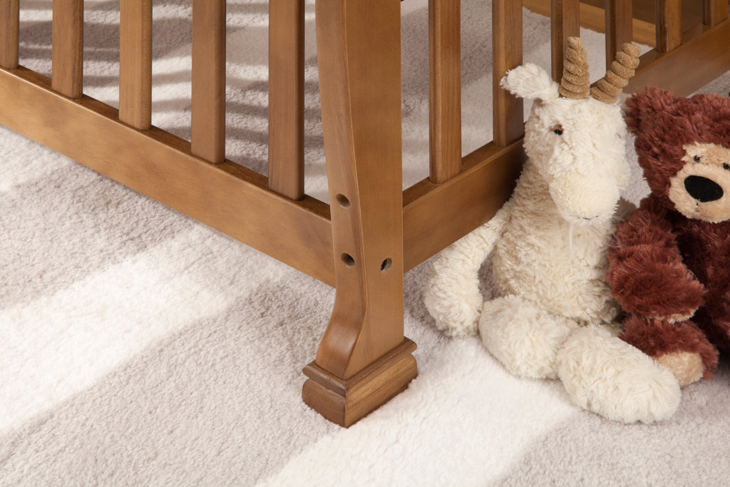 M5598CT,Kalani 2-in-1 Mini Crib and Twin Bed In Chestnut Finish