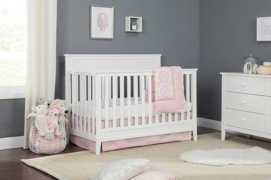 F11301W,Connor 4-in-1 Convertible Crib In White Finish