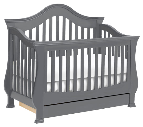 Ashbury 4-in-1 Convertible Crib with Toddler Bed Conversion Kits Manor Grey