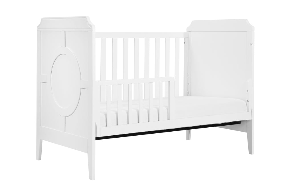 M11401WW,Poppy Regency 3-in-1 Convertible Crib In White and White Finish