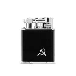 BLACK, FLINT-FIRED, DOUBLE JET-FLAME LIGHTER