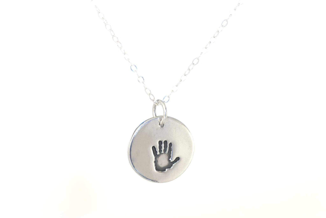 Handprint Charm Necklace - Handprint Jewelry