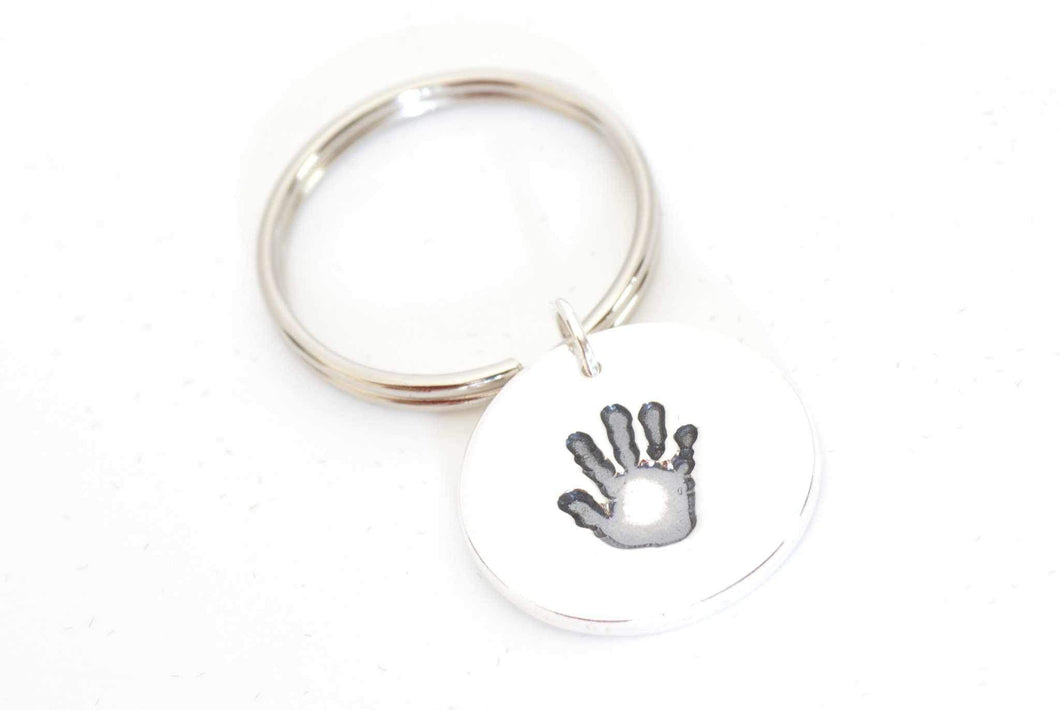 Handprint Keepsake Keychain - Handprint Jewelry