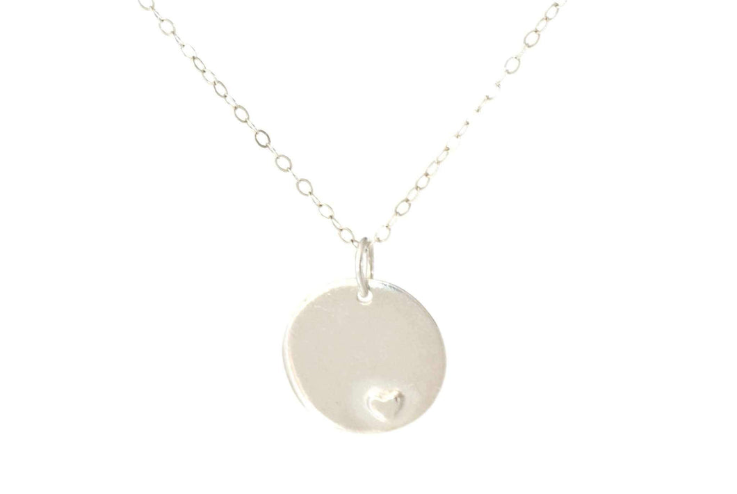 Memorial Handprint Charm Necklace - Handprint Jewelry