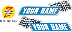 10-F01-ND NAME DECAL blue