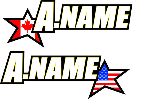 12-F04-ND STAR NAME DECAL
