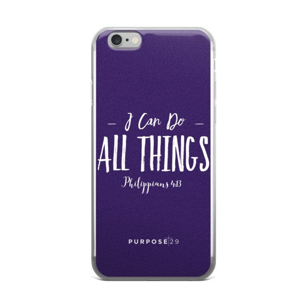 I Can Do All Things iPhone case