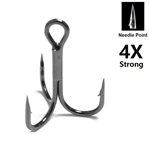 Fishing Lures Accessories Treble Hooks 4X Strong Needle Point FH87HP30 (30 hooks per pack)
