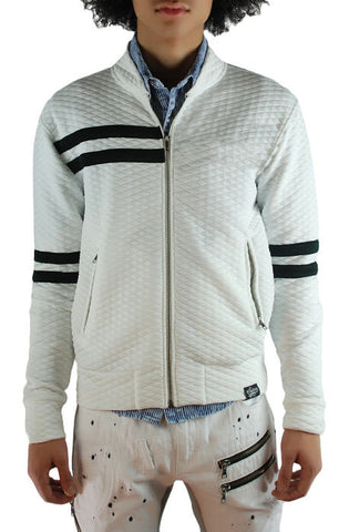 The Square Zero Diamond Quilting Jacket (Style: GK-6100-White)
