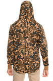 The S.Q.Z. Premium Cotton French Terry Pullover Hoodie in Woodland Camo (STY# GF-8040-WOODLAND)