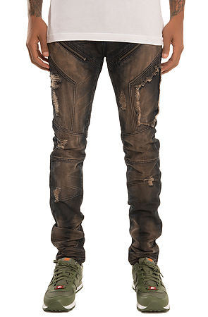 The S.Q.Z. Moto Inspired Premium Denim Pants (Style GD-2311-Stellar)
