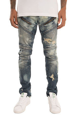 The S.Q.Z. Premium Moto Inspired Skinny Denim (Style GD-2325-Coronet)