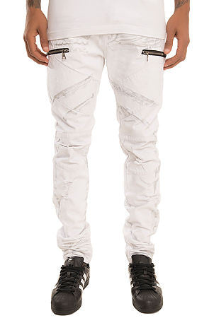 The S.Q.Z. Premium Moto Inspired Skinny Denim (Style GD-2323-Pristine)