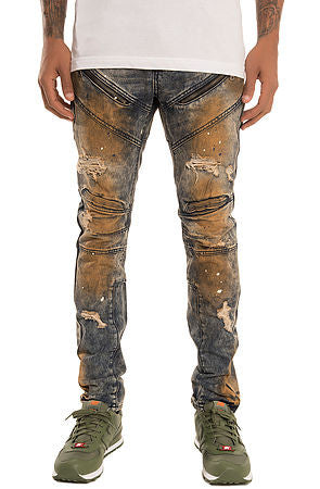 The S.Q.Z. Premium Moto Inspired Skinny Denim (Style GD-2319-Flint)