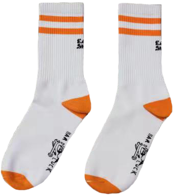 Orange Eat Shit Socks