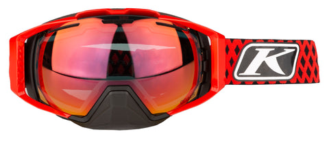 Klim Oculus Goggle - Diamond Fade High Risk Red  - Smoke Red Mirror and Clear