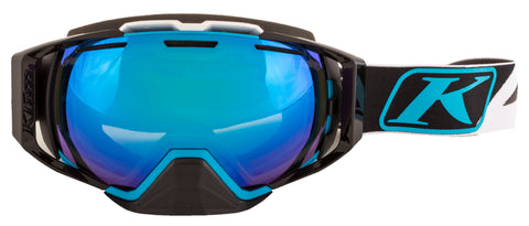 Klim Oculus Goggle - Dissent Vivid Blue - Smoke Silver Mirror and Blue Tint