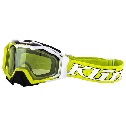 Klim Viper Pro Snow Goggle - Hive Lime Light - Green Tint