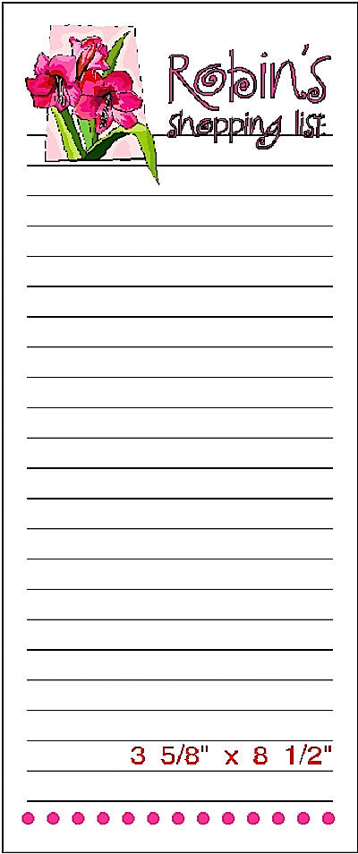 Pad P Customized Shopping List Pad by Fun with Pads