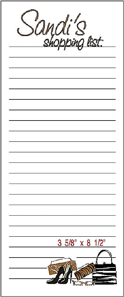 Pad R Customized Shopping List Pad by Fun with Pads