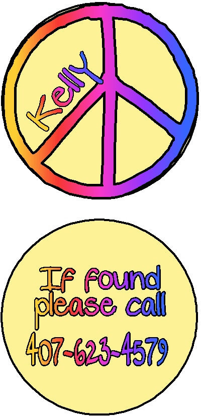 Bag Tag #17 Customized by Fun with pads