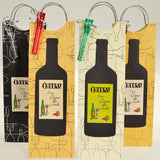 Four wine bags with handle