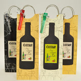 Four wine bags with handle personalized by Fun with Pads