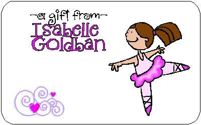 Gift Sticker #17 Ballet Customized by Fun with Pads