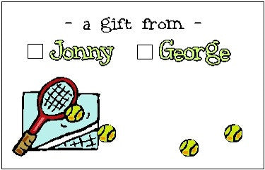 Gift Sticker #5 Tennis Customized by Fun with Pads