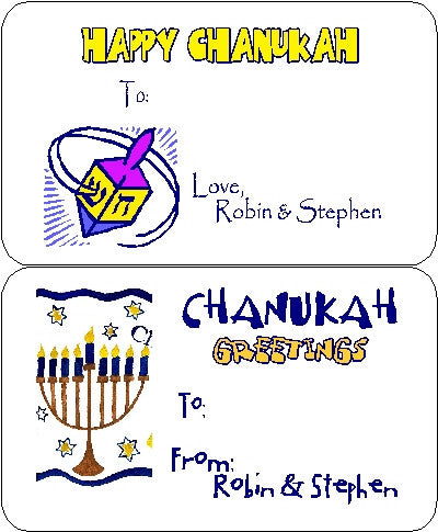 Hanukkah Set 3 Gift Card Customized by Fun with Pads