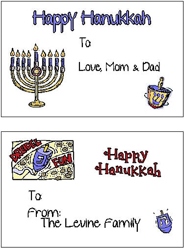 Hanukkah Set #1 Sticker Cards Customized by Fun with Pads