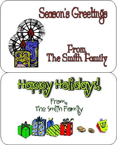 Holiday Set 2 Gift Stickers Customized by Fun with Pads