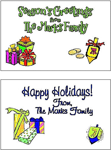 Holiday Set #1 Gift Stickers Customized by Fun with Pads