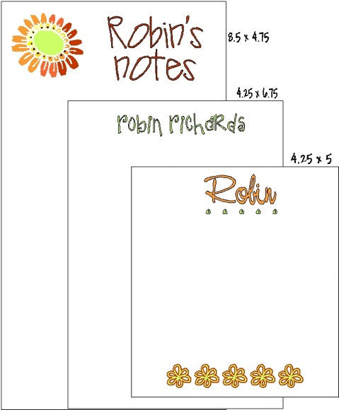 Pad Set F-9 Yellow Flowers Customized by Fun with Pads