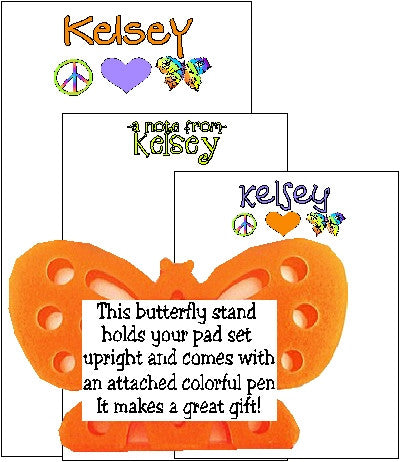 Peace Pad Set F-2b with Butterfly Stand Customized by Fun with Pads