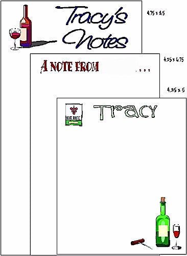 Wine Note Pad Set F-36 Customized by Fun with Pads