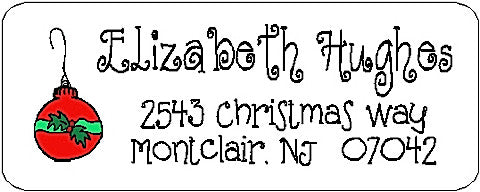 Address Label # 39 Customized by Fun with Pads