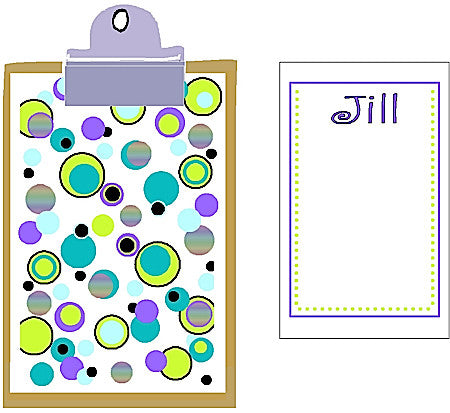 Clipboard Set #2 (6x9 clipboard & 2 pads) Customized by Fun with Pads