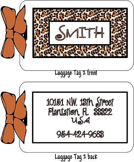 Luggage Tag #2 (4 for $18) Customized by Fun with pads